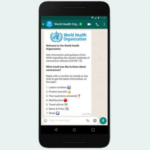 WhatsApp contra el coronavirus: Lanzan chat directo con la OMS