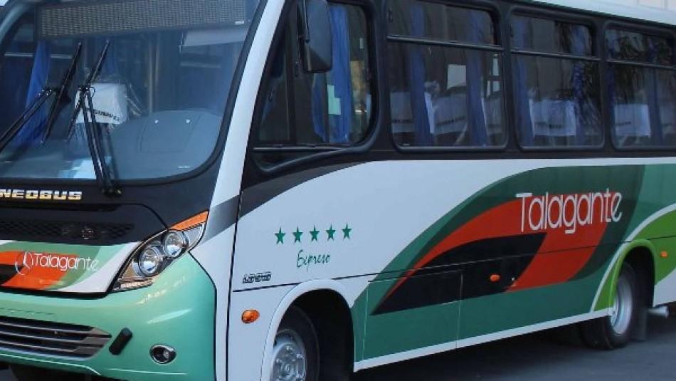 Servicio de buses de Talagante y Peñaflor suspenden servicios para evitar contagios de coronavirus
