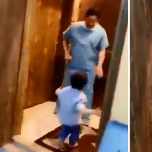 Llanto de médico al no poder abrazar a su hijo por miedo a contagiarlo con coronavirus se hace viral