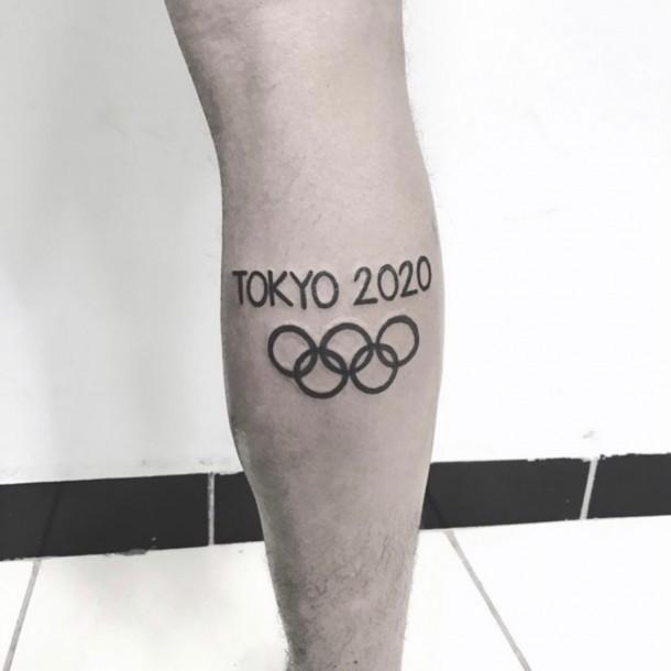 El particular pedido de un atleta que se tatuó el logo de Tokio 2020:
