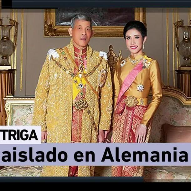 Rey de Tailandia aislado en Alemania