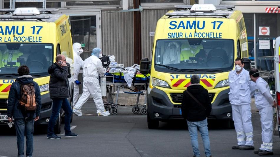 Francia registra récord de 588 muertos en hospitales por coronavirus en 24 horas