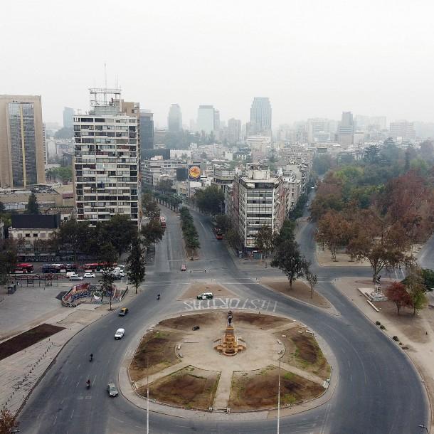 Plaza Italia en cuarentena: La nueva realidad de la
