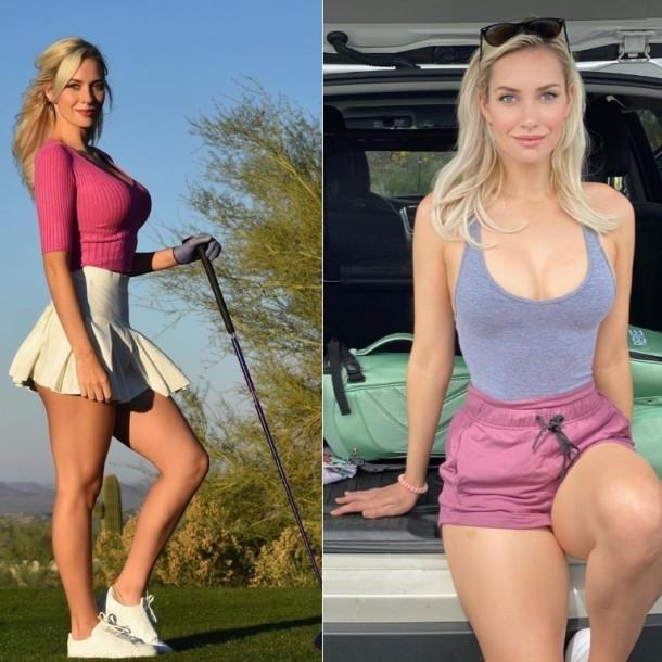 Golfista Paige Spiranac causa locura con inusuales tiros en medio de su entrenamiento en cuarentena