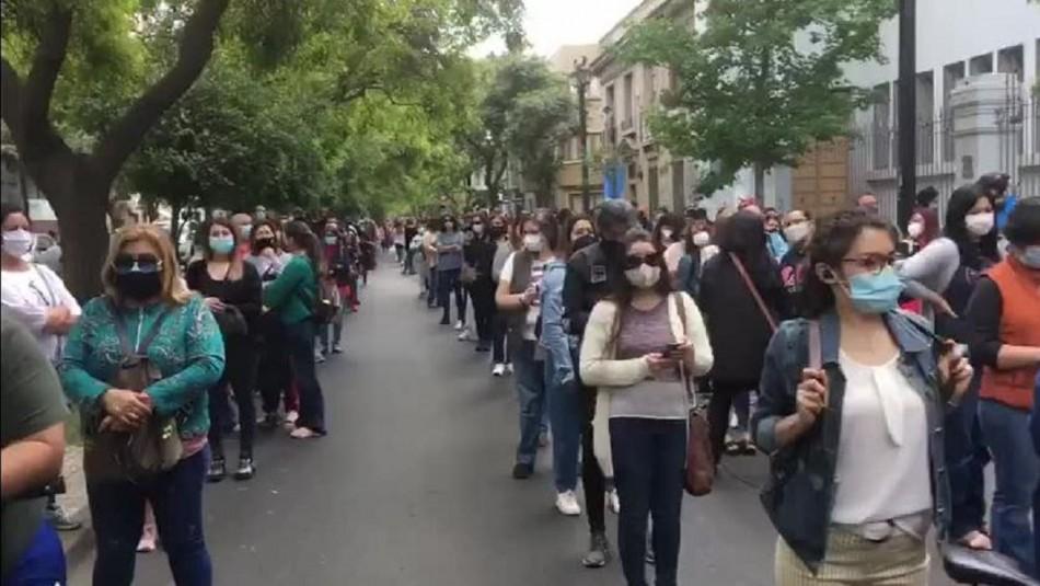 Video muestra la alta participación para votar en el Liceo de Aplicación