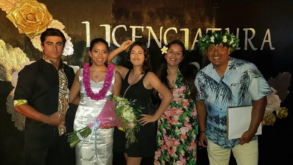 Cuartos medios de Rapa Nui son los primeros en graduarse en plena pandemia