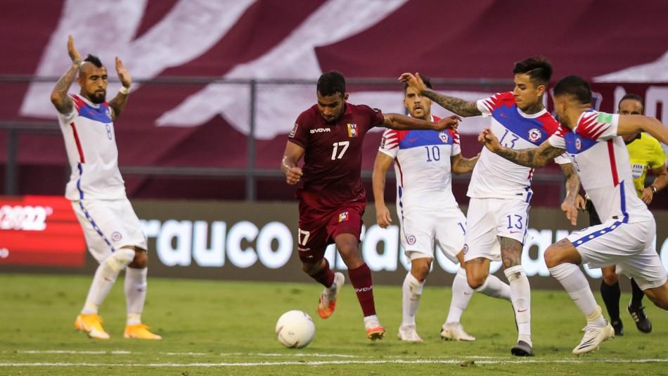 La Roja cayó en Caracas ante Venezuela.