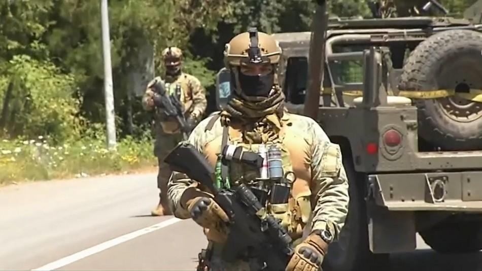 Militares y policías realizarán patrullajes en La Araucanía ante seguidilla de atentados