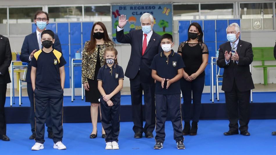 Presidente Piñera da inicio al año escolar 2021: