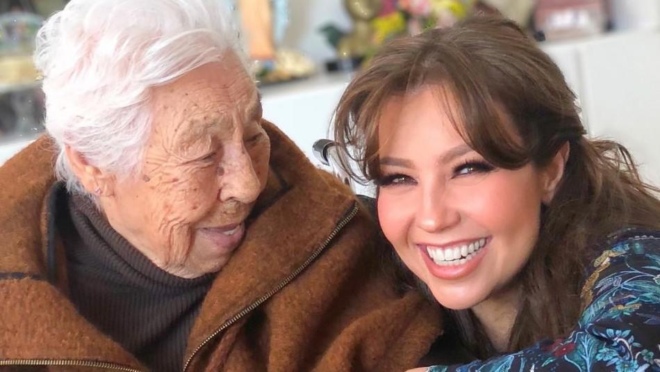 Hermana de Thalía afirma que la amenazaron de muerte luego de sacar a su abuela de asilo