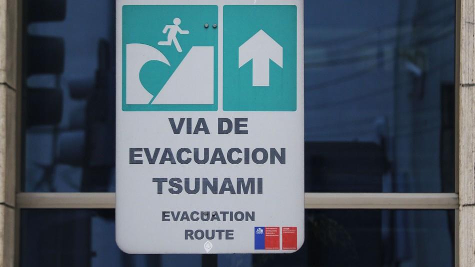 Posible tsunami menor: Alerta Amarilla para comunas del borde costero y horas de evacuación