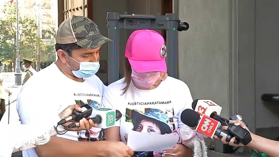 Padres de Tamara Moya entregan emotiva carta a Piñera: