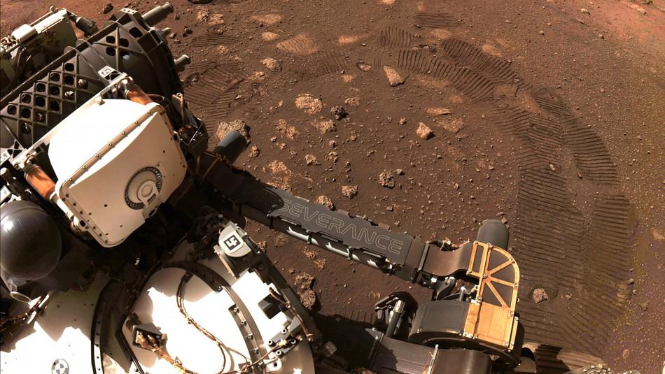 Robot Perseverance realizó con éxito su primer recorrido en Marte
