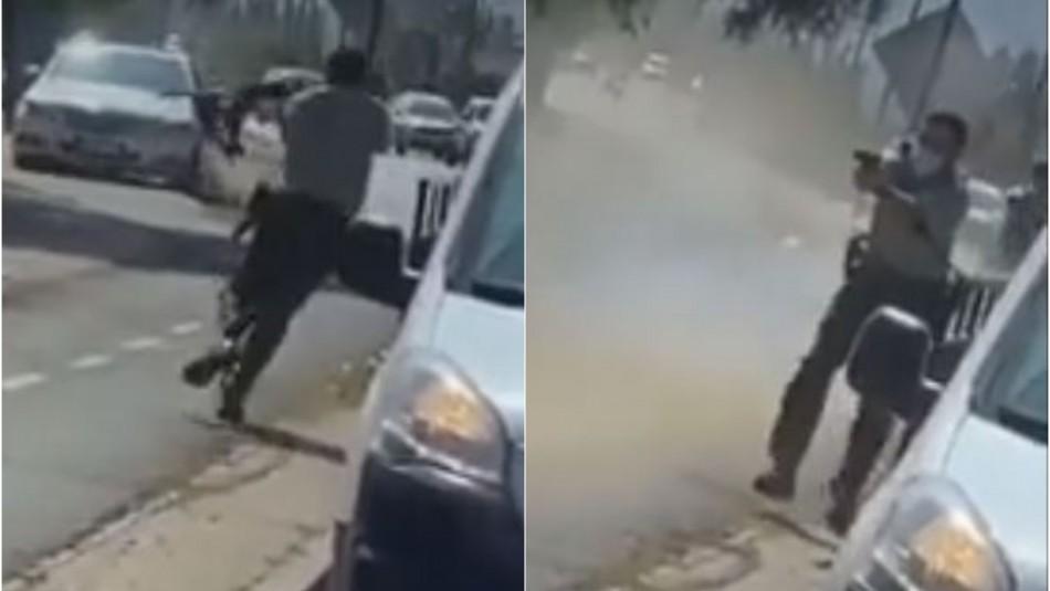 Atropello y balacera en Machalí: Video capta momento del incidente tras control de fiscalización