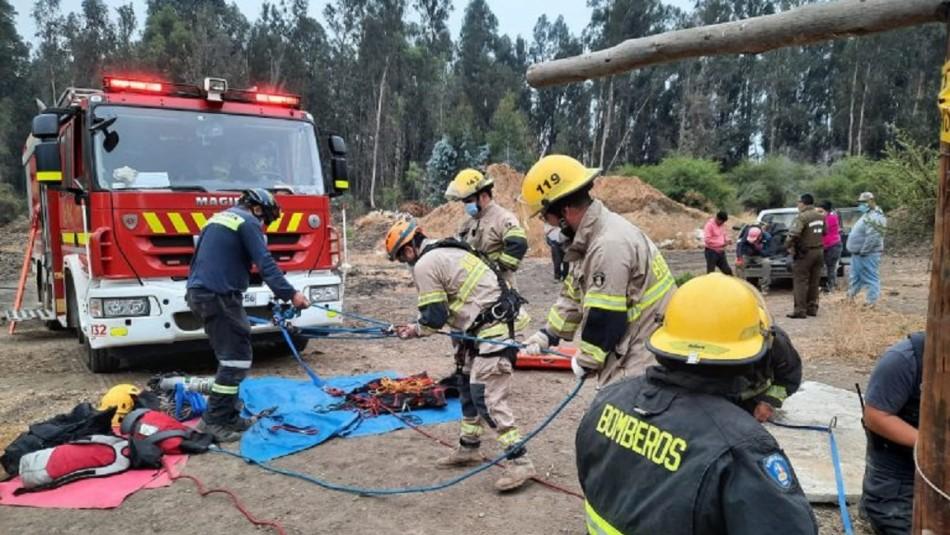 Hombre muere tras caer en un pozo de 30 metros en Limache