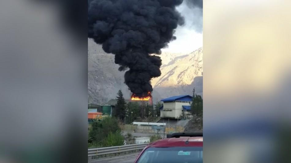 Incendio afectó a planta de filtros de Codelco en Los Andes