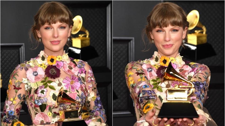 Taylor Swift no se cansa de ganar y recibe el Grammy al Mejor Álbum del año