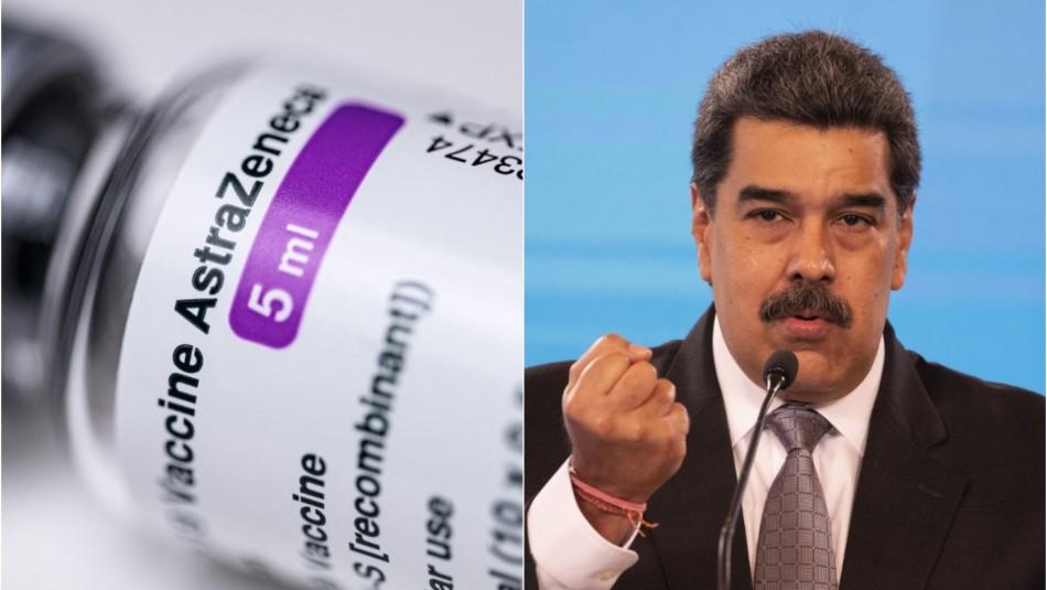 Maduro no permitirá uso de vacuna de AstraZeneca por supuestos efectos secundarios