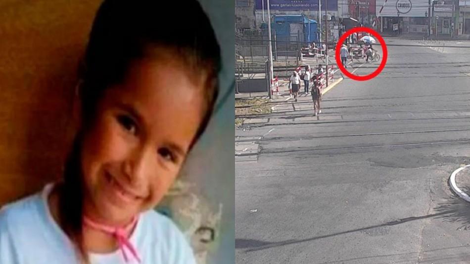 Revelan última imagen de niña desparecida en Argentina: subió a un tren con un hombre