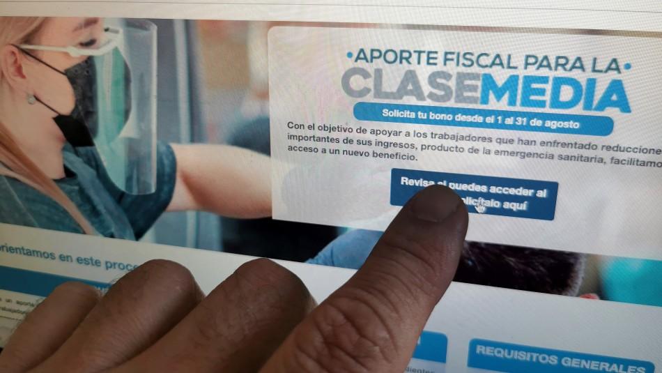 Bono de Clase Media: $500 mil se pagarían de forma automática a personas de bajos ingreso