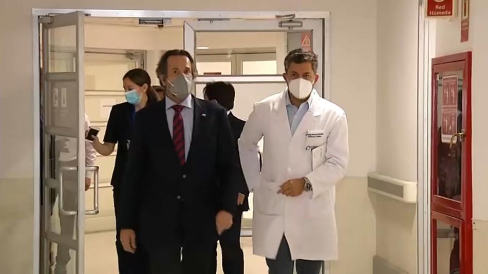 Subsecretario de redes asistenciales fiscaliza aumento de camas críticas en clínica privada