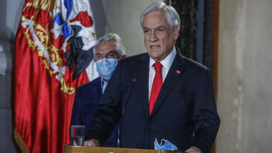 Presidente Sebastián Piñera anuncia proyecto para postergar mega elecciones de abril