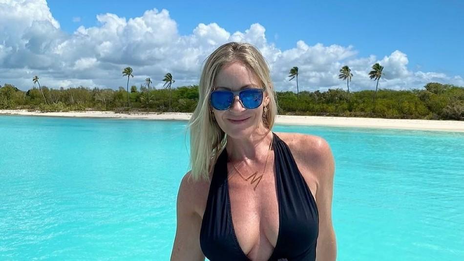 Marcela Vacarezza estalla ante críticas por viaje al Caribe: