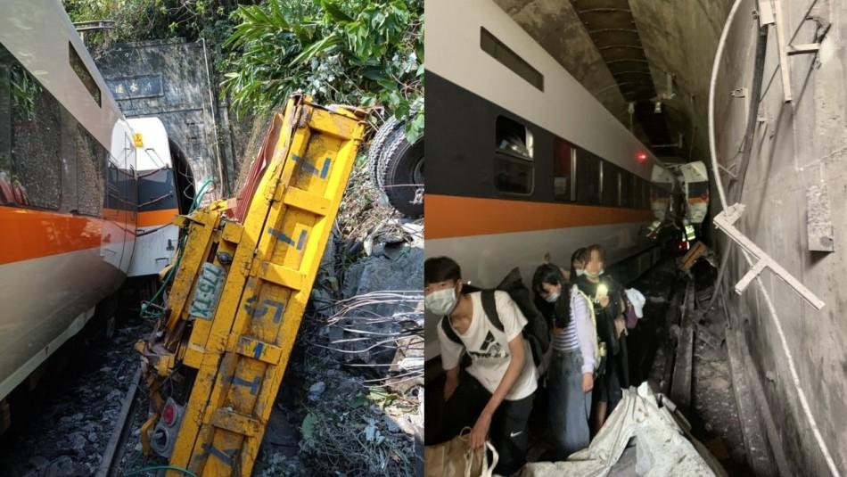Al menos 41 personas mueren en accidente de tren en Taiwán