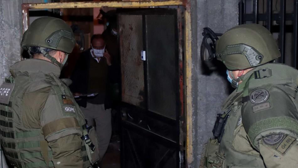 Allanamiento en Pedro Aguirre Cerda termina en balacera y deja a un uniformado herido