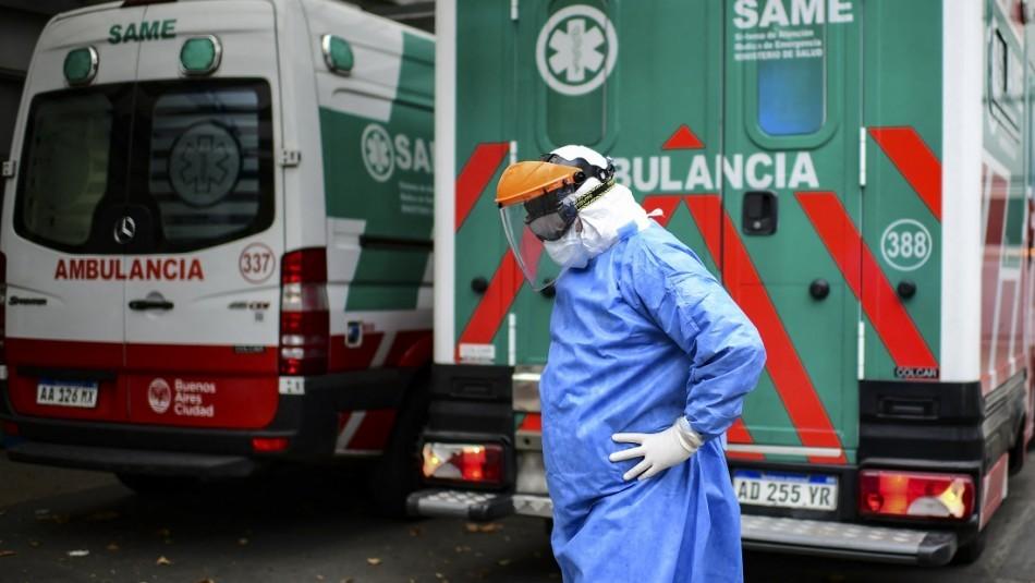 Caos en Argentina: Alcanza récord de más de 20 mil casos nuevos de coronavirus en un día
